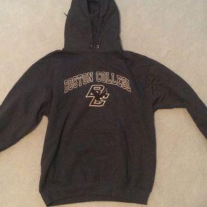 A champions grey Boston College sweatshirt